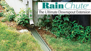 RainChute® downspout extension