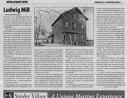 Article about Ludwig Mill Restoration: page 2