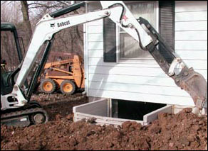 Installing egress window backfill Ohio basement doctor